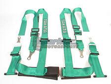"Takata Drift II Bolt-On Seat Belt Safety Harness Green 2"" Shoulder/Lap 4-Point"