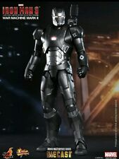 "12"" War Machine Mark II Diecast Figure Item 902043 Hot Toys Sideshow Iron man 3"