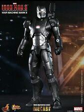 "12"" War Machine Mark II Diecast Figure Item 902043 Hot Toys Sideshow Iron man 3"