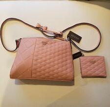BRAND NEW Guess Plush Pink Purse Handbag w/ Matching Wallet Gorgeous