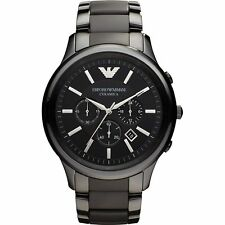 Emporio Armani Ceramica Black Chronograph Mens Ceramic Bracelet Watch AR1451