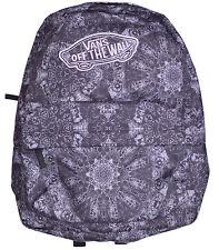 Vans REALM BLACK PINK Backpack Bag BACK PACK SKATE BOOK BAG 22L CLASSIC PATCH