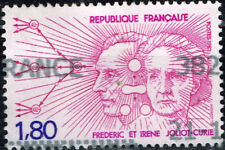 France Famous Scientists Frederic and Irene Joliot-Curie stamp 1982