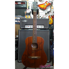 Luna Tattoo Series Travel 3/4 Size Acoustic Guitar with Gig Bag