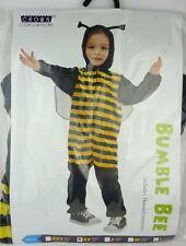 Kinderkostüm unisex Biene Hummel schwarz-gelb XS 3-4 Jahre Bumblee Bee