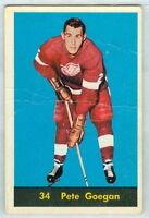 Pete Goegan 1960-61 Parkhurst Parkie '60 NHL Card #34 GVG Detroit Red Wings