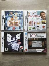 LOT 4 JEUX 100 LIVRES CLASSIQUES TUBE MANIA CUISINE NINTENDO DS 3DS NEUF NEW