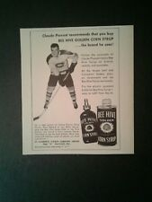 1958 Claude Provost Montreal Canadiens Hockey Memorabilia Bee Hive Photo AD