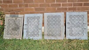 Meat safe sides Coola Willow pressed galvanised Metal Sides x 4, old food keeper