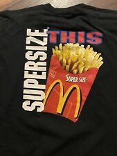 Vintage McDonalds Former Employee T-Shirt~Supersize This & Mr Pibb~Size Xl