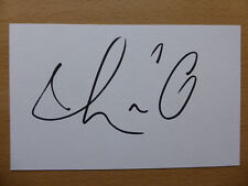Hand Signed Football Index Cards *****L***** Page 1