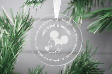 Mickey Mouse Christmas Ornament, Babies First Christmas bauble Glass ornament.