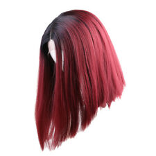 14 inch Natural Short Bob Straight Wig Synthetic Lace Front Full Women Wigs