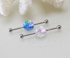 2pcs New Mermaid Scales Industrial Barbell14g(1.6mm) Industrial Piercing Jewelry