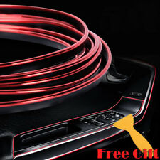 Red 32.8ft Edge Gap Interior Line Moulding Trim Molding Strip Decor For Car