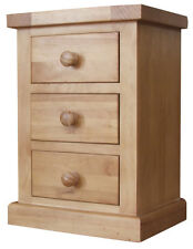 PAIR OF SOLID PINE BEDSIDE CABINETS Tables Drawers 39cm - Bedroom Furniture