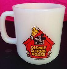 Vintage 1981 Glasbake Mickey Mouse Teacher Coffee Mug Cup Walt Disney