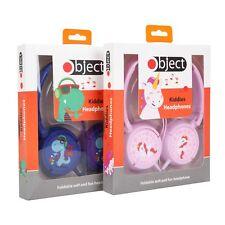 New Girls Boys Childrens Kids Over the Head Headphones Headset iPod BLUE & PINK