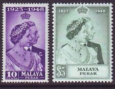 Malaya Perak 1948 SC 99-100 MH Set Silver Wedding