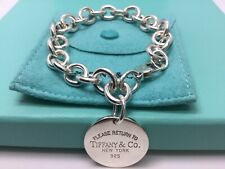 Authentic Return To Tiffany & Co. Round Tag Bracelet 7""
