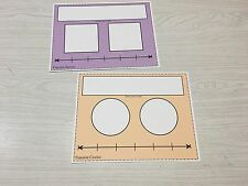 Write-On/Wipe-Off Fraction Circle And Square Math Mats