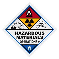Hazardous Materials Operations  Plus Haz Mat Firefighter Reflective Decal