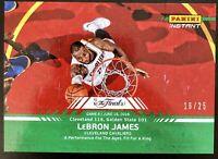 2016 Panini NBA FINALS Lebron James #/25 GREEN CHAMPS Cleveland Cavs SSP Mint!