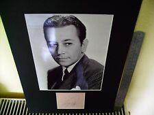 GEORGE RAFT HOLLYWOOD GANGSTER SCARFACE AUTHENTIC SIGNED AUTOGRAPH DISPLAY UACC