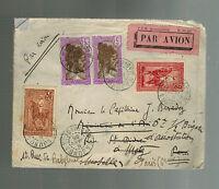 1935 Tananrive Madagascar  Airmail Forwarded Cover to Paris France