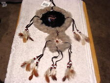 DREAMCATCHER INDIAN WITH A PICTURE OF A WOLF 2 RINGS