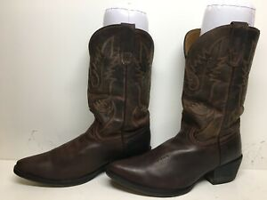 YOUNGS WOMENS  UNBRANDED SNIP TOE DARK BROWN BOOTS SIZE 5