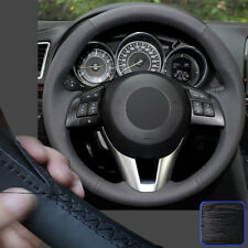 Specific Steering Wheel Cover Hand Stitch Wrap for Mazda 3 6 CX-3 CX-5 CX5 13-16