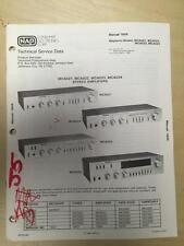 Magnavox Service Manual for the MCA021 MCA022 MCA023 MCA024 Amplifiers Amps