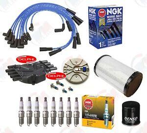 DELPHI Tune Up Kit (NGK Wires & Plugs) for 1996-1999 Chevrolet K1500 K2500 5.7L