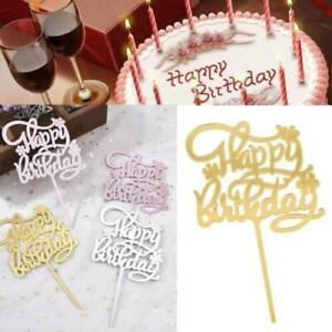 Acrylic Home Happy Birthday Decor Baking Cake Topper Card Party Decor Supply *1