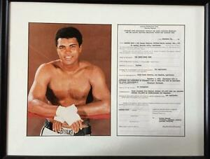 Cassius Clay- Signed Boxing Contract Framed