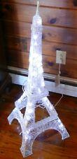 Gemmy Led Lightshow 3 Ft Glimmer Lighted Sparkle Eiffel Tower Decor - Unused