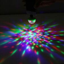 Colorful Party Decoration Disco Lighting USB RGB LED Bulb Rotating Light 5W