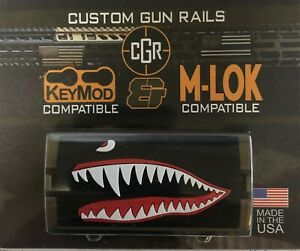 Flying Tiger, Facing Left - Grip PVC Custom Rail Cover - KeyLok/KeyMod/M-LOK