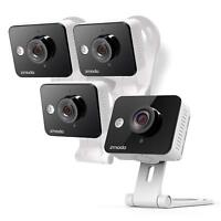 Zmodo Wireless Two-Way Audio HD Home Security Camera (4 Pack) w/ IR Night Vision