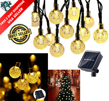 20ft 30 Solar LED Outdoor Waterproof String Lights Warm White Garden Decor SALE