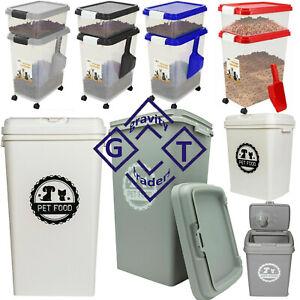 53L/40L/20L Pet Food Dry Feed Container Animal Dog Cat Storage Box Bin & Scoop