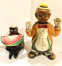 TWO (two) BLACK AMERICANA NODDERS