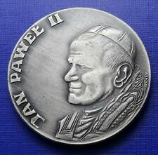 More details for papal medal 1987, pope john paul ii polish visit, he loved them to the end~59.7g