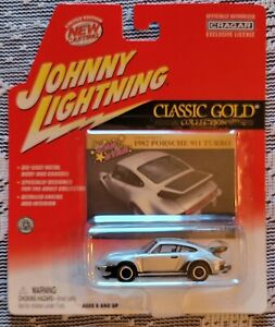 1982 Johnny Lightning Classic Gold Porsche 911 Turbo, Real Riders, Silver