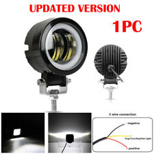 3Inch 20W Round LED Work Light Fog Headlight Pods White Halo For Motorcycle SUV