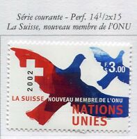 19698) UNITED NATIONS (Geneve) 2002 MNH** Nuovi** definitive 3 fr.