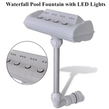 Cascade Waterfall Swimming Pool Fountain w/ Led Lights Above and In-ground Pool