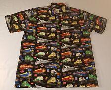 Max Boxxer Train Railroad Locomotive Hawiian Shirt Mens XL NWOT Union Pacific
