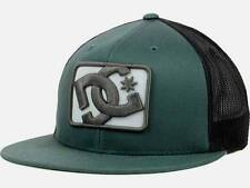 DC Shoes Passport Trucker Mens Green Black Gray Snapback Hat Cap NWT One Size